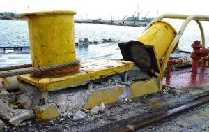 There have been a number of shore side marine bollard failures whereby moored vessels were cast adrift