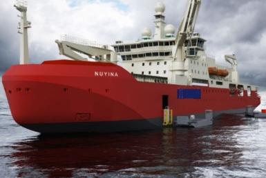 An artist's impression of Nuyina, Australia's new icebreaker