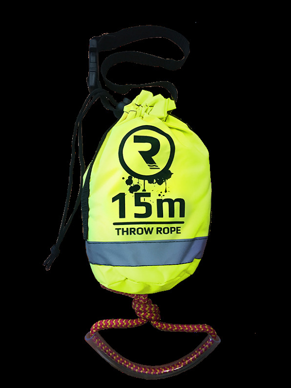 RIBER, and several other suppliers of throw bag rescue lines, import the complete manufactured product pre-branded with their company's logo.