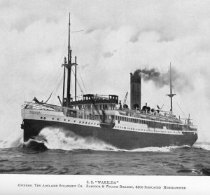 His Majesty's Australian Transport (HMAT) Warilda was transporting hundreds of wounded soldiers from the French port of Le Havre to Southampton