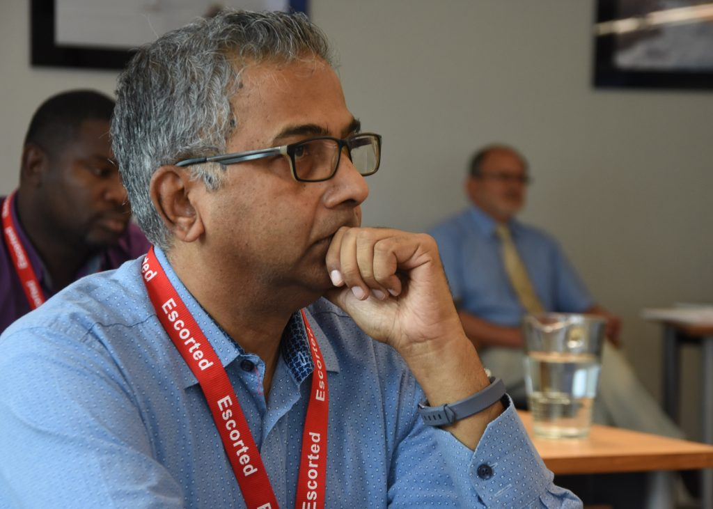 Raman Bala, Director of Shipping, British Virgin Islands (pictured) attending the MAIB training