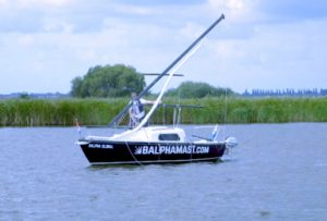 Key to the Balpha Mast program is the stainless-steel mast housing which can be adapted for use with the Barton Boomstrut which controls the boom under sail.