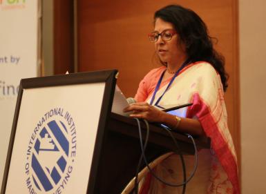 Dr Malini Shankar addressing the IIMS Mumbai Symposium