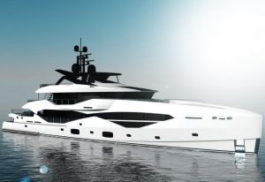 The new 49m tri-deck yacht will have an interior that can be styled to each owner's taste.
