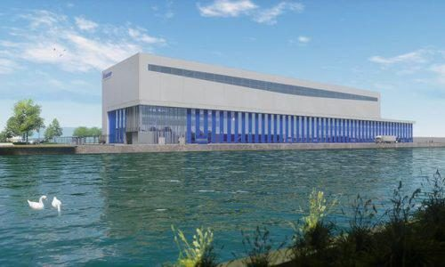 An artist's impression of the new Feadship facility, due to open in May 2019