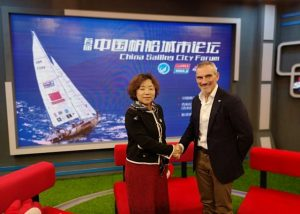 Zhang Xiaodong and William Ward OBE celebrate the launch of Clipper Ventures Chinese division Photo: Clipper Ventures