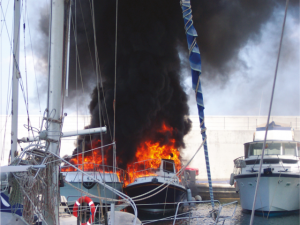 """In many ways, it is understandable that fire suppression on board is overlooked. The actual percentage of boat fires in relation to boat usage is very small""."