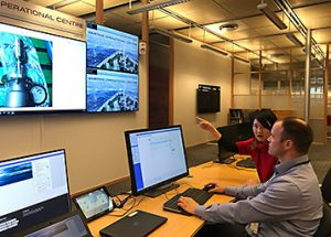 The Maritime Operational Centre in Høvik from where remote surveys are being carried out.