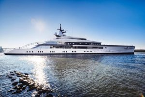 Bravo Eugenia, Oceanco's first LIFE-designed yacht, developed in collaboration with Lateral Naval Architects.