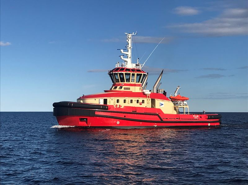 The 'Vilja', an escort tug operated by the Port of Luleå in Sweden, is the first vessel of its kind operating with the Wärtsilä HY hybrid power module. Copyright: Port of Luleå.