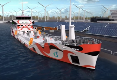 World's first all electric tanker