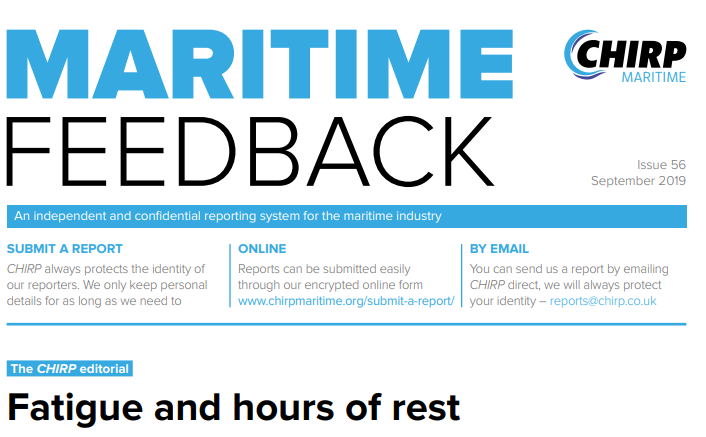 Maritime Feedback issue number 56 published by CHIRP