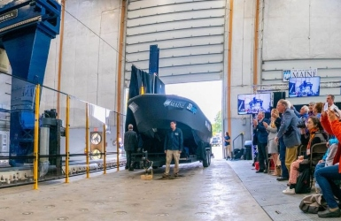 The largest 3D printed boat to date. Photo credit: University of Maine