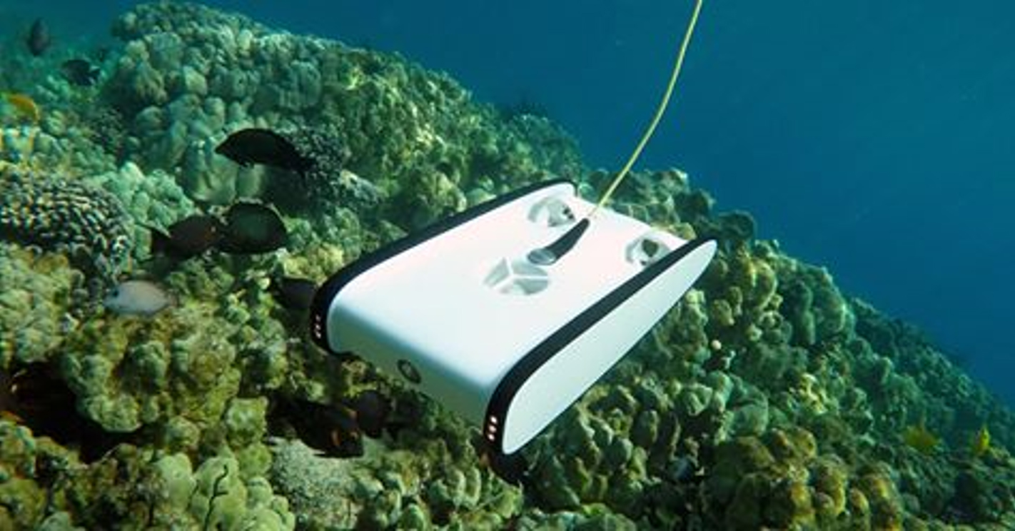 "Figure 3: Micro Class Trident ROV ""underwater drone"" - Picture courtesy OpenROV"