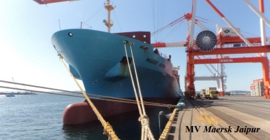 Accident report about the Maersk Jaipur published by Transport Malta