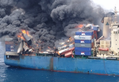 Fire caused by dangerous misdeclared cargo
