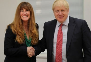 Kelly Tolhurst MP is pictured with Prime Minister, Boris Johnson