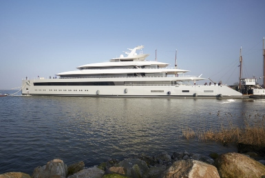 Moonrise, the largest yacht by waterline to be built in the Netherlands