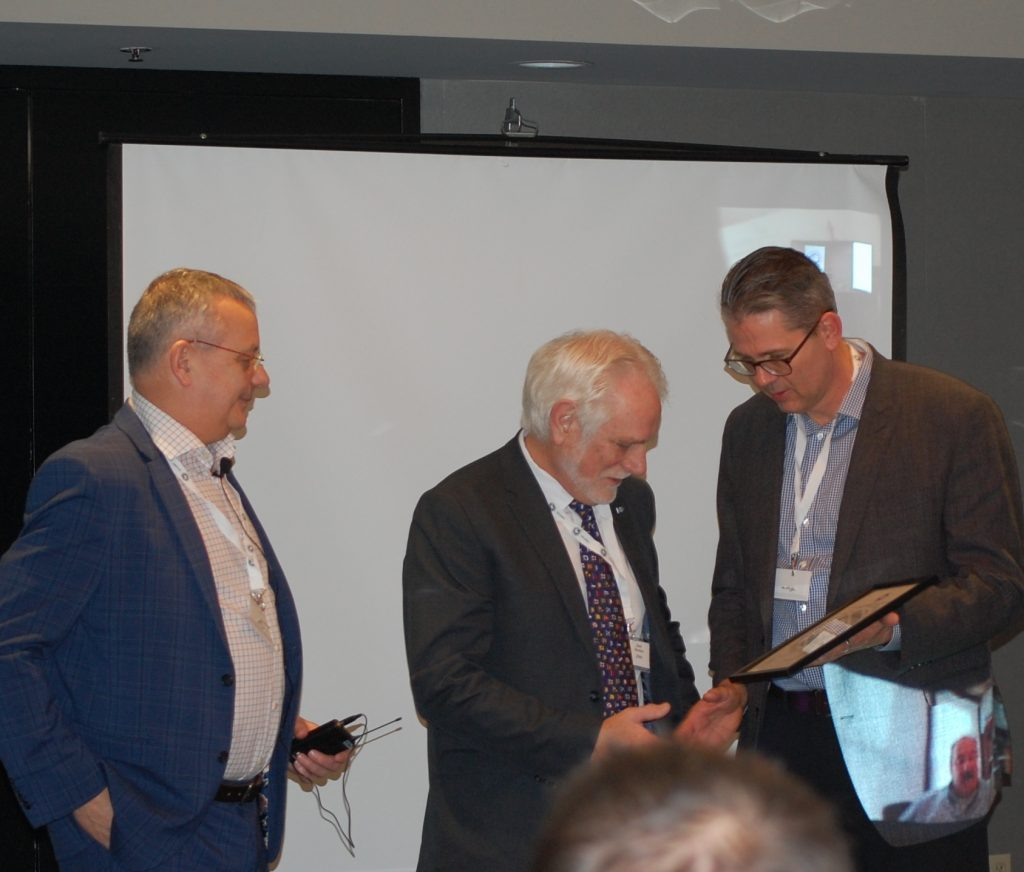 Stan Bowles (centre) is awarded an Honorary Membership