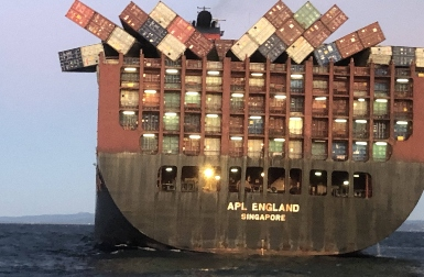 Initial inspection reveals serious defects in cargo ship APL England