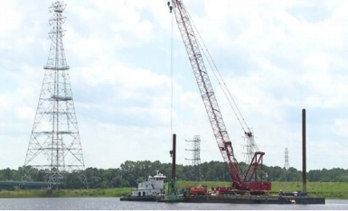 NTSB has published an investigation report into an incident with crane barge