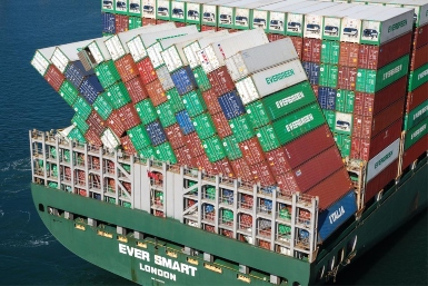 Ever Smart: containers overboard