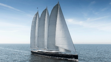 The world's largest aluminium sailing yacht has been handed to its new owner