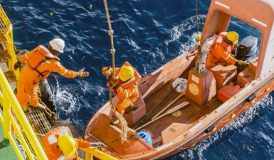 Swedish Club reports a rescue boat drill incident