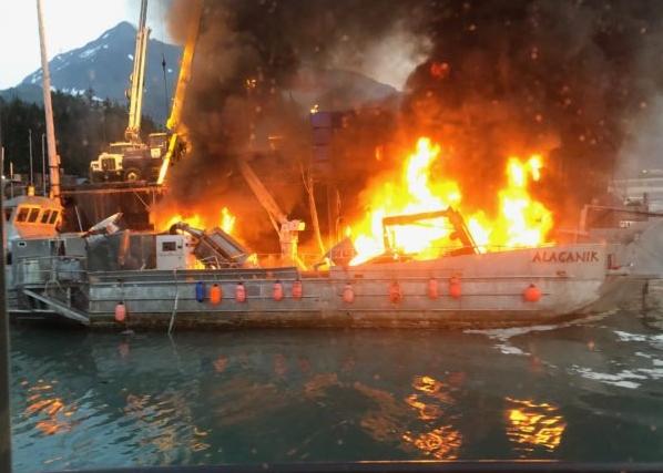 Barge Alaganik: Photo courtesy of Alex Fefelov for The Cordova Times