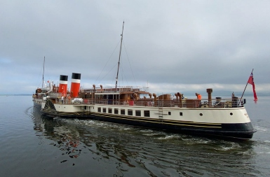 The paddle steamer Waverley following her boiler refit