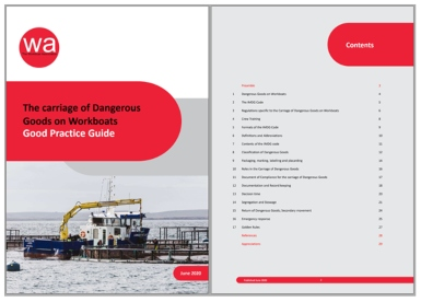 The new Carriage of Dangerous Goods on Workboats good practice guide released by the Workboat Association