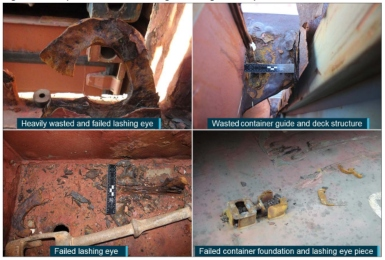 Heavy corrosion led to APL England loss of containers