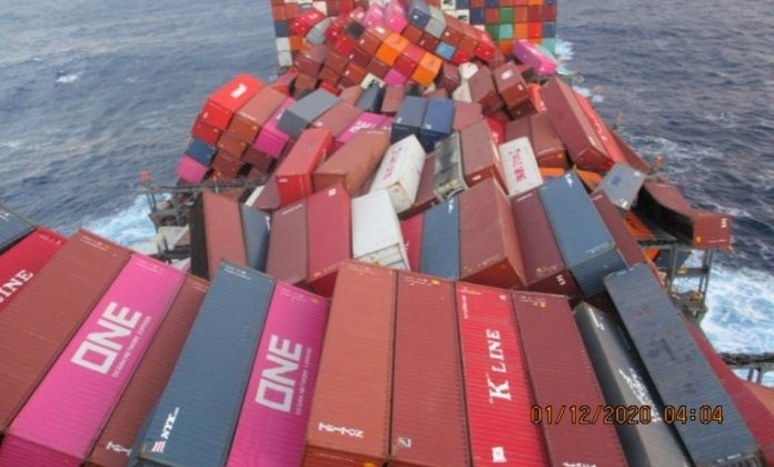 Dangerous Goods containers among 1,900 lost and damaged containers from ONE Apus