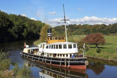 Historic steam-driven tug set to return to service. Photo credit: Thorndon Bearings
