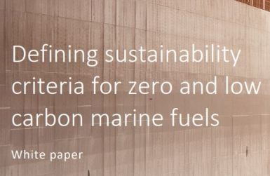 Sustainable Shipping Initiative publishes white paper for the use of new marine fuels