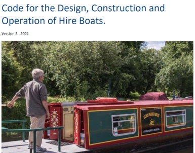 Revised UK Hire Boat Code for the design, construction and operation published
