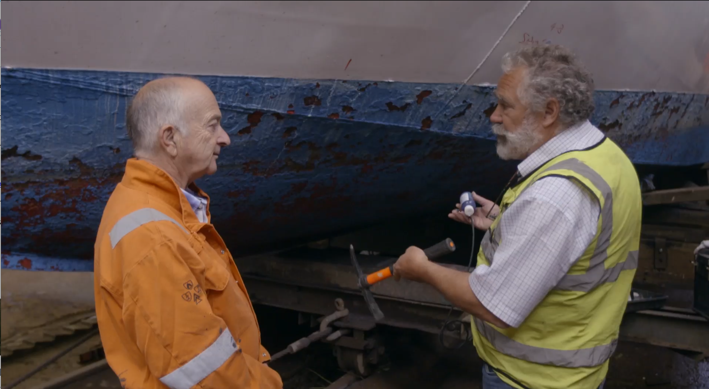 Cygnus Instruments: Famous Face Gets a Lesson on Surveying and UTG (Sir Tony Robinson pictured left)