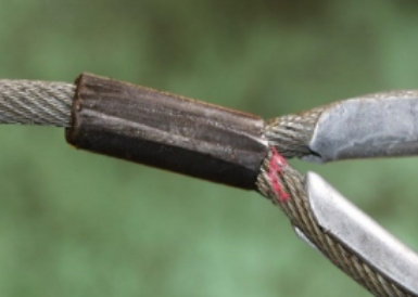 Safety alert urges surveyors to inspect and check wire rope terminations