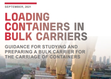 Ensuring safe carriage of containers in bulk carriers guidelines issued by Bureau Veritas