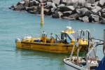 Small fishing boat off the Isle of Wight