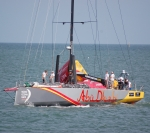 Racing yacht off Portsmouth