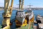 View the album Heavy lift of two French mine hunters