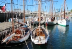 Five French Navy sailing boats used for training