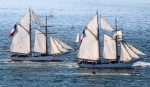 The French Navy training boat schooners Etoile and Belle Poule, built in 1932