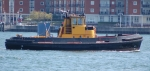 Small workboat in  Portsmouth waters