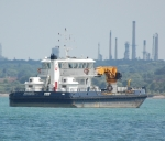 Work boat in the Solent