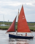Small sailing vessel on a Norfolk creek