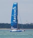 Artemis sponsored yacht in the Solent