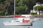 Yacht moored up at Fishbourne