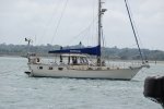 Interesting craft sailing by in Southampton Water